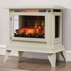 Duraflame 3D Cream InfraGen Electric Fireplace Stove w/ Remote Control - DFI-5020-04