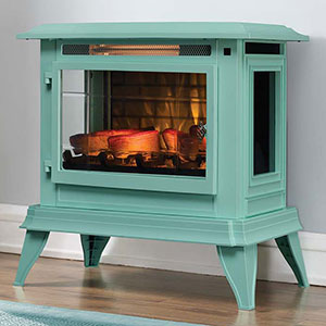 Duraflame 3D Ice Blue InfraGen Electric Fireplace Stove w/ Remote Control - DFI-5020-05