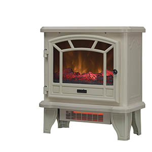 Duraflame Cream Electric Fireplace Stove - DFI-550-39