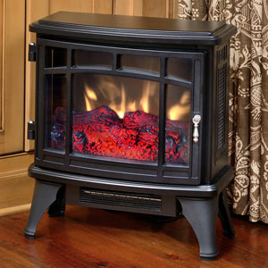 Duraflame 8511 Black Infrared Electric Fireplace Stove with Remote Control - DFI-8511-01