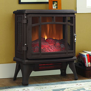 Duraflame 8511 Bronze Infrared Electric Fireplace Stove with Remote Control - DFI-8511-02