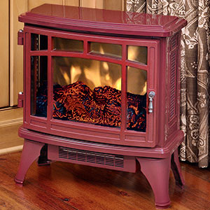 Duraflame 8511 Cranberry Infrared Electric Fireplace Stove with Remote Control - DFI-8511-03