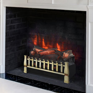 Duraflame 20 Inch Brass Electric Fireplace Insert Log Set