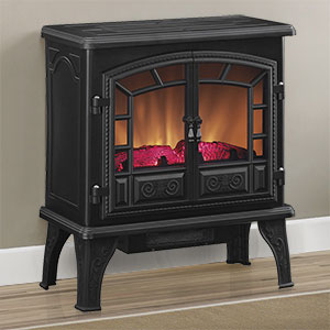 Duraflame Liberty Black Electric Fireplace Stove with Remote Control - DFS-750-12