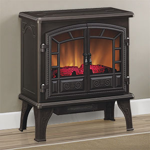 Duraflame Liberty Bronze Electric Fireplace Stove with Remote Control - DFS-750-13