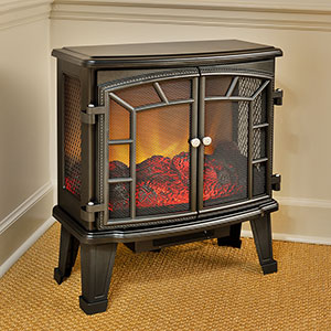 Duraflame 950 Black Electric Fireplace Stove with Remote Control - DFS-950-4