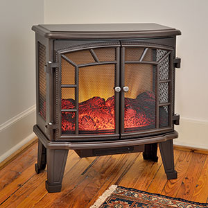 Duraflame 950 Bronze Electric Fireplace Stove with Remote Control - DFS-950-6