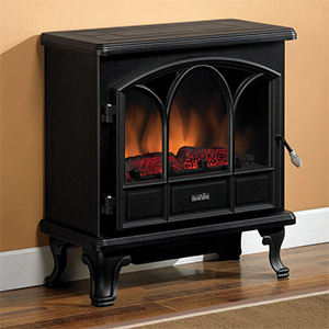 Duraflame 750 Black Electric Fireplace Stove With Remote Control   DFS 750 1