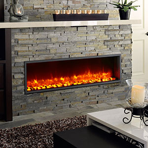 Dynasty 55-In Built-In Electric Fireplace - DY-BT55