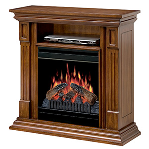 Deerhurst Burnished Walnut Electric Fireplace Media Center - DFP20-1268BW