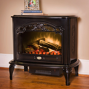 Dimplex Celeste Black Purifire Electric Fireplace Stove with Remote Control - TDS8515TB
