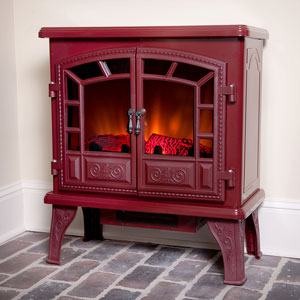 Duraflame Liberty Cranberry Electric Fireplace Stove with Remote Control - DFS-750-14
