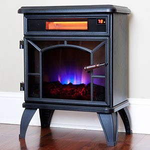 Duraflame Black Infrared Stove with Remote Control - DFI-550-0