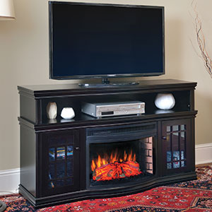 Dwyer Electric Fireplace Media Console in Espresso - MTVSC2513SE