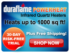 Duraflame Power Heat Infra-red Quartz Heaters