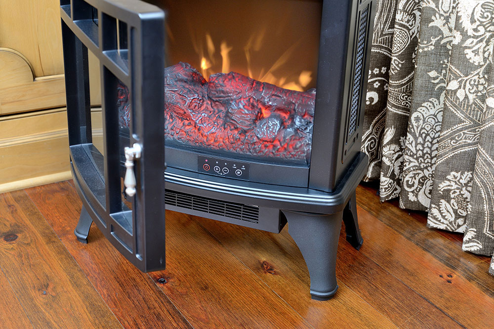 Duraflame 8511 Black Infrared Electric Fireplace Stove With Remote Control