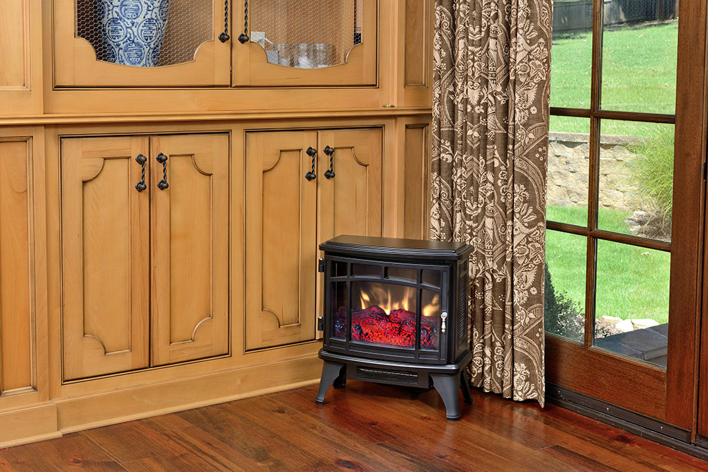 duraflame 8511 black infrared freestanding stove dfi. Black Bedroom Furniture Sets. Home Design Ideas