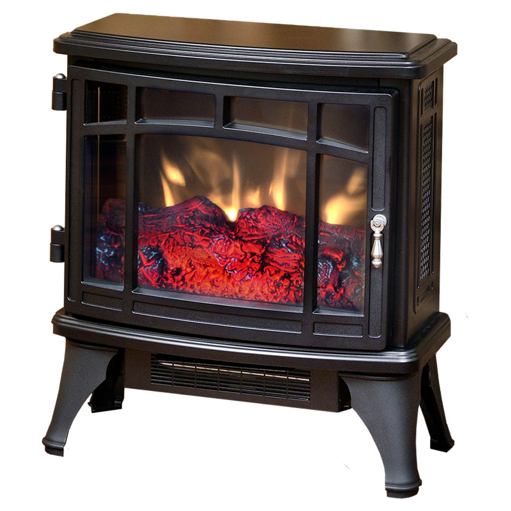 Electric Stove Heaters On Sale ~ Duraflame black infrared electric fireplace stove