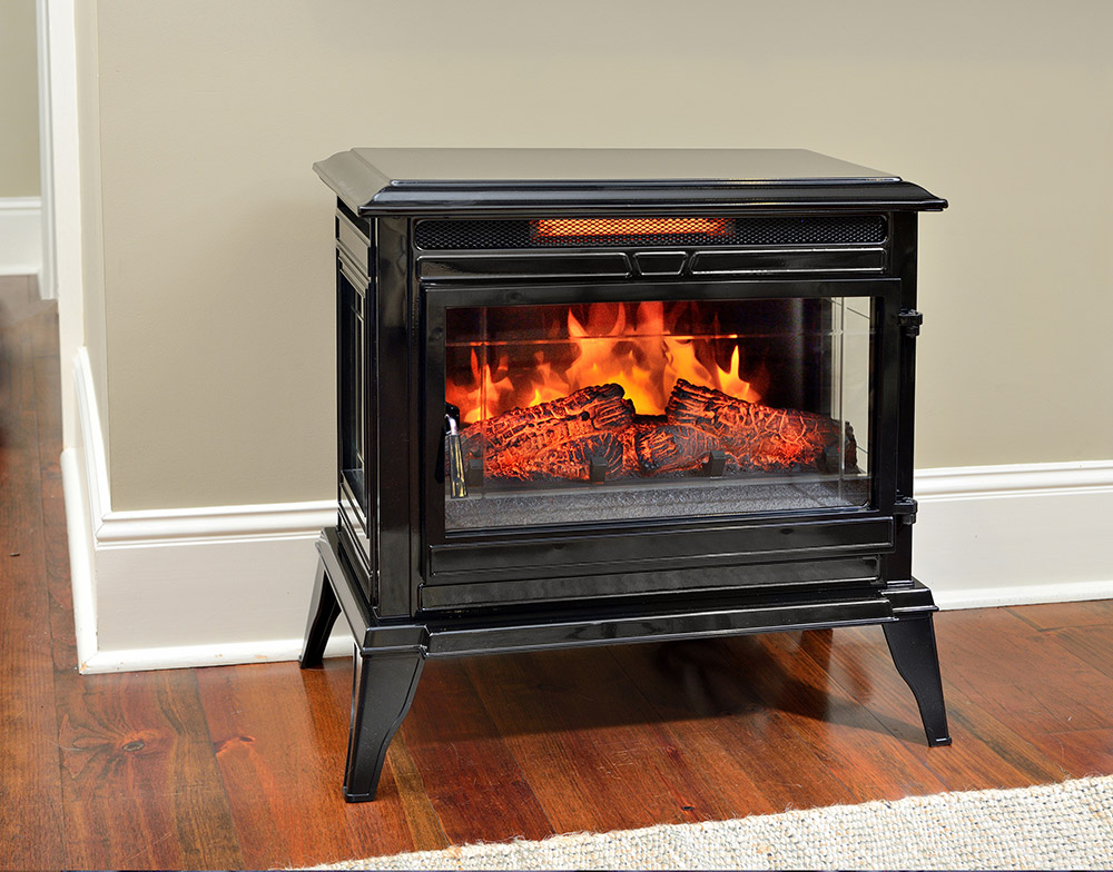 Comfort Smart Jackson Black Freestanding Infrared Stove