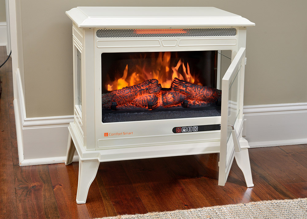 Electric Stoves Product ~ Comfort smart jackson cream infrared electric fireplace
