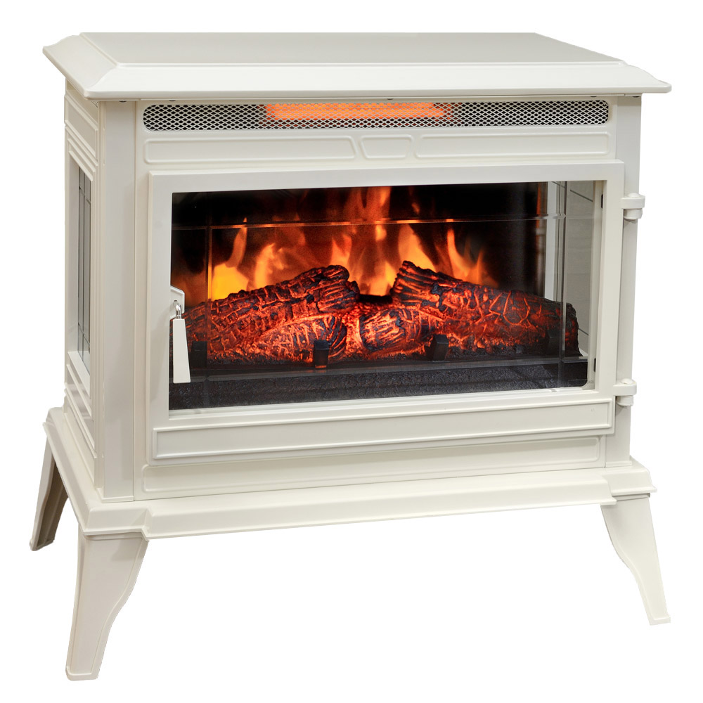Comfort Smart Jackson Cream Infrared Electric Fireplace