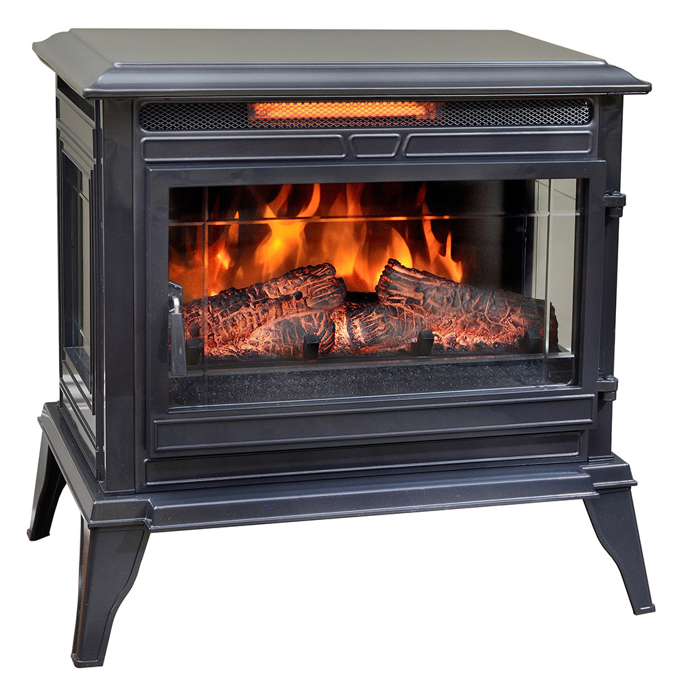 Electric Stoves Product ~ Comfort smart jackson gunmetal infrared electric fireplace
