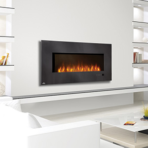 Napoleon 48-Inch Slimline Black Wall Mount Electric Fireplace - EFL48H