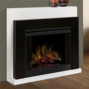 Ebony Wall or Corner Contemporary Electric Fireplace - BFSL-BMBLK
