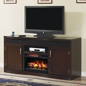 Endzone Electric Fireplace Entertainment Center in  Espresso - 26TF8299-E451