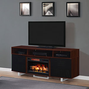 Enterprise Lite Electric Fireplace Entertainment Center in Cherry