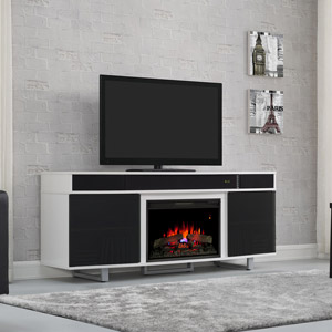 Enterprise Electric Fireplace Entertainment in White - 26MMS9626-NW145