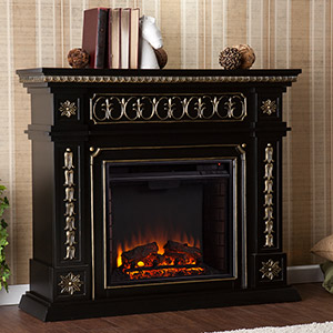 Donovan Electric Fireplace Mantel Package in Black - FE9661