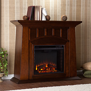 Lowery Electric Fireplace Mantel Package in Espresso - FE9668