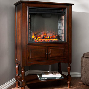 Providence Wall or Corner Electric Fireplace Mantel Package in Mahogany - FE9807
