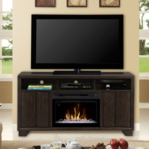 Bayne Electric Fireplace Media Console w/ Glass in Graphite - GDS25GD-1411BYG