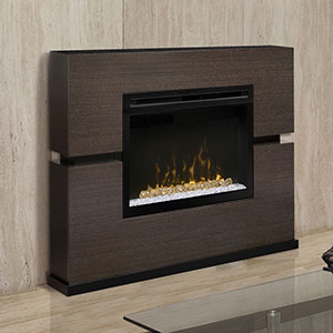 Linwood Electric Fireplace Mantel Package w/ Acrylic Ice in Grey Rift - GDS33HG-1310RG