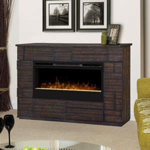 Markus Electric Fireplace Media Console w/ Glass in Tamarind - GDS50G3-1559BT
