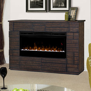 Markus Electric Fireplace Media Console w/ Acrylic Ice in Tamarind - GDS50G5-1559BT