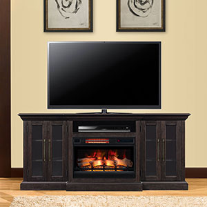 Grand Electric Fireplace Entertainment Center in Espresso