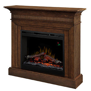 Harleigh Electric Fireplace Mantel Package in Walnut - DFP26L-1475WN