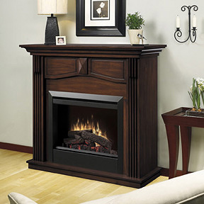 Holbrook Electric Fireplace Mantel Package in Burnished Walnut - DFP4765BW
