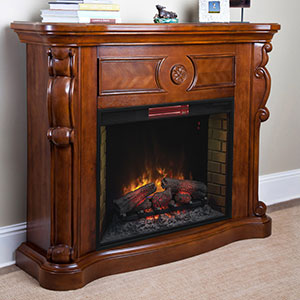 Kensington Electric Fireplace Mantel in Pecan Cherry - 33WM617-C239