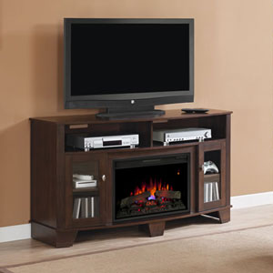 LaSalle Electric Fireplace Media Console in Midnight Cherry - 26MM4995-NC72