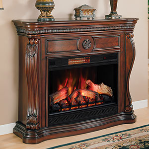 Lexington Infrared Electric Fireplace Mantel in Empire Cherry - 33WM881-C232