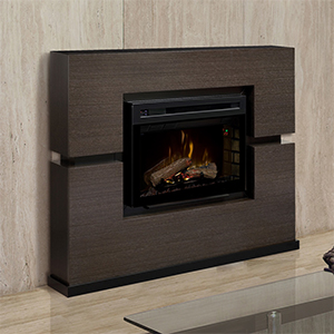 Linwood Electric Fireplace Mantel Package in Grey Rift  - GDS33HL-1310RG