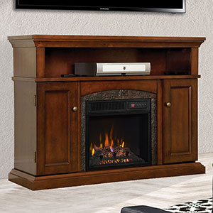 Lynwood Infrared Electric Fireplace Media Cabinet in Vintage Cherry - 18MM4105-C233