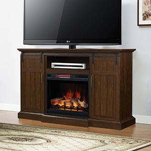 Manning Infrared Electric Fireplace Entertainment Center in Espresso - 28MM9954-PD01