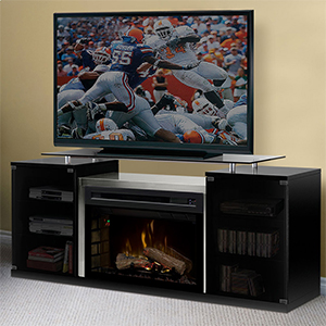 Marana Electric Fireplace Media Console in Black - SAPHL-500-B