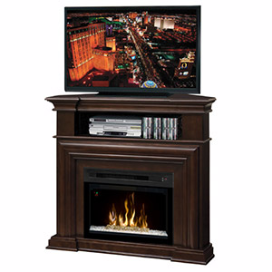 Montgomery Espresso Corner Electric Fireplace Media Center with Glass Embers - GDS25HG-1057E