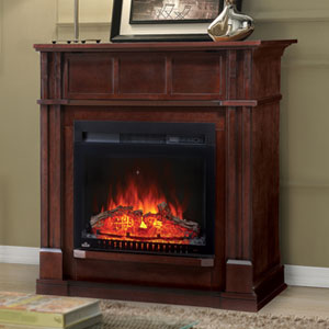 Bailey Electric Fireplace Mantel Package in Espresso - NEFP24-0115E